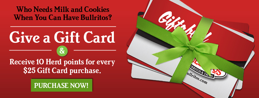 Bullritos Holiday Gift Cards