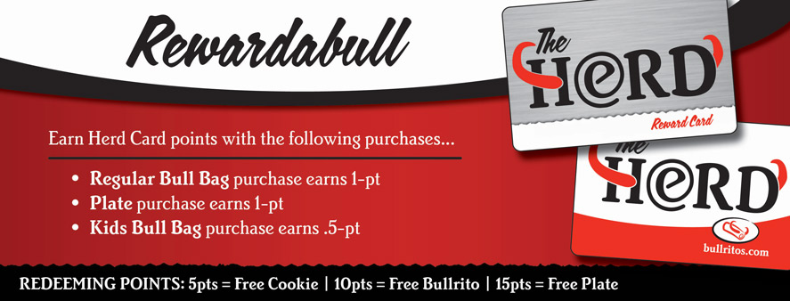Rewardabull | Earn Herd Card Points with the Following Purchases...